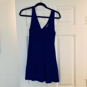 Tobi extra small royal blue pleated mini dress